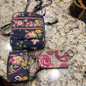 Vera Bradley Set- Hipster, and Two Wallets!